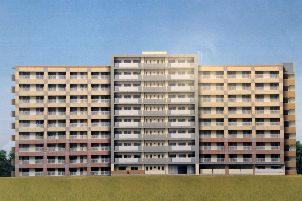 福岡市内公営住宅新築塗装工事